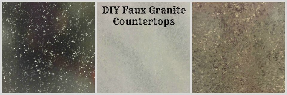 Granite Countertops For Less : Faux Granite Countertops for less The Blue House On The Corner