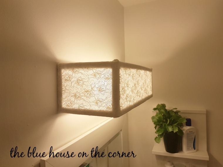 DIy Lace Lamp Shade 14