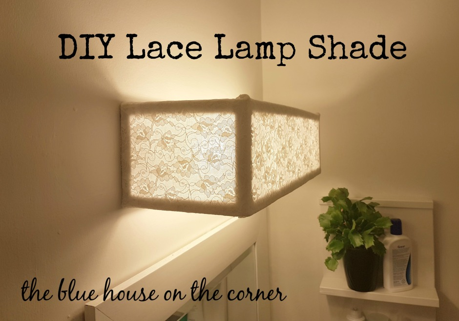 Diy lace lamp shade the blue house on the corner aloadofball Image collections