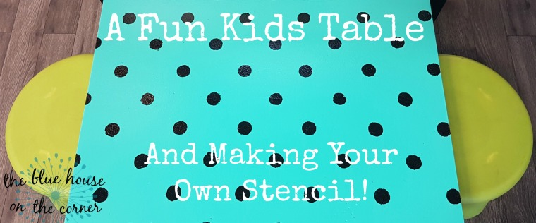 Kids table stencil 1