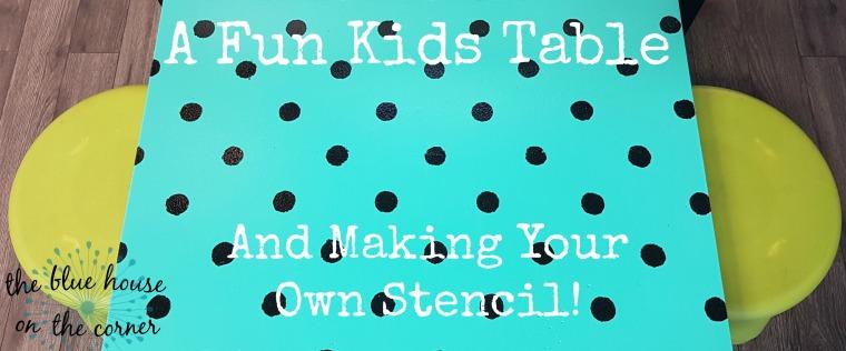 Kids table stencil 1